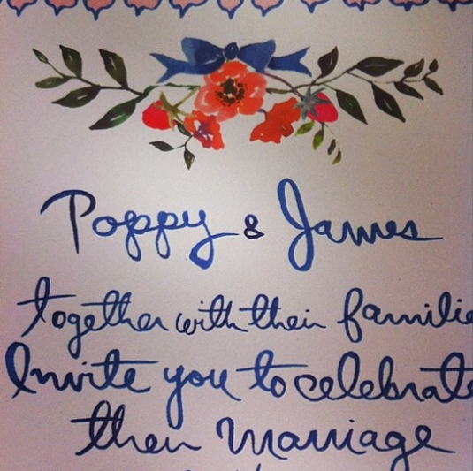invitacion boda poppy delavigne by nomcoregirl
