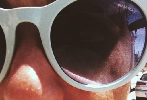 gafas de sol celeste