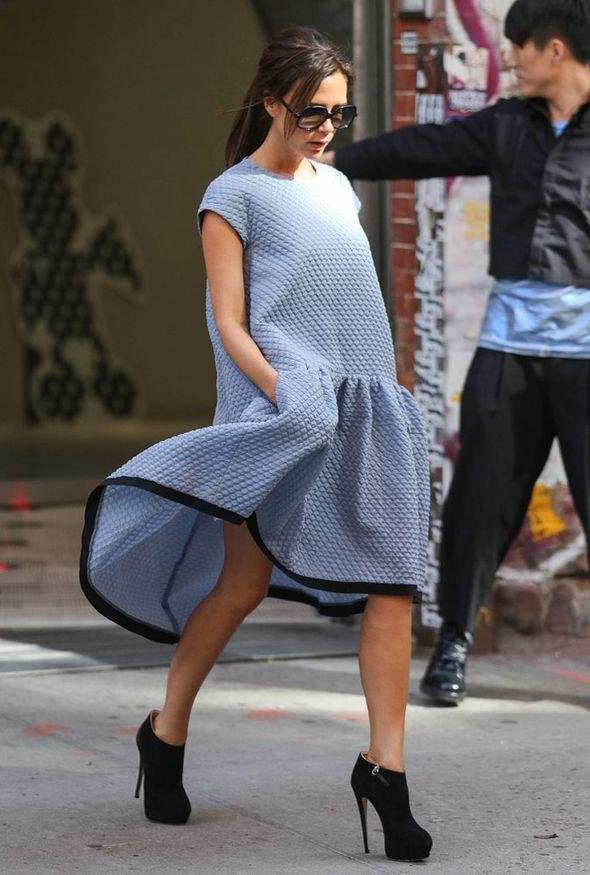 cocoon vestido azul