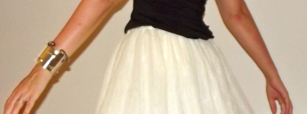 falda blanca tul normcore