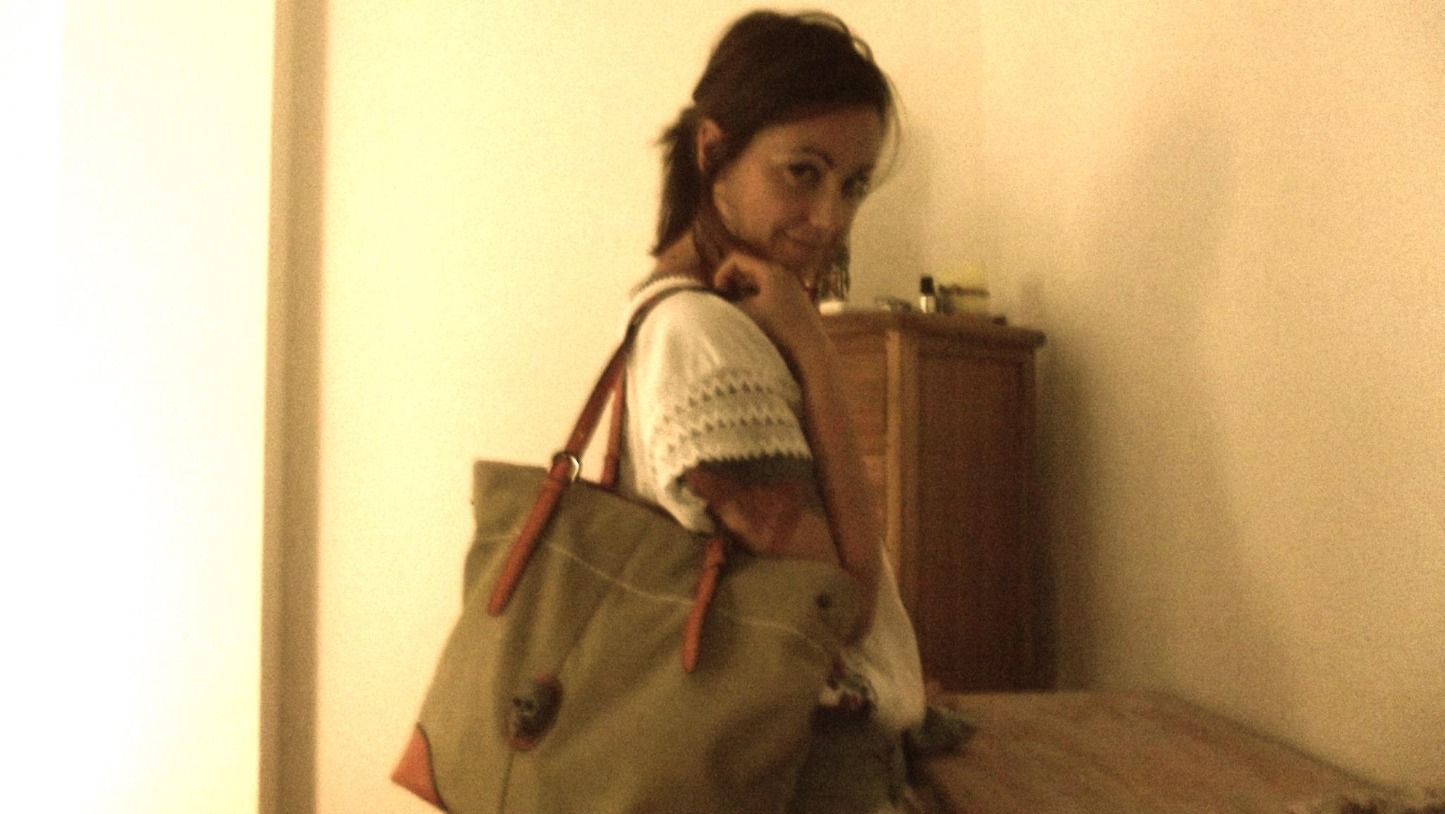 bolso verde calavera