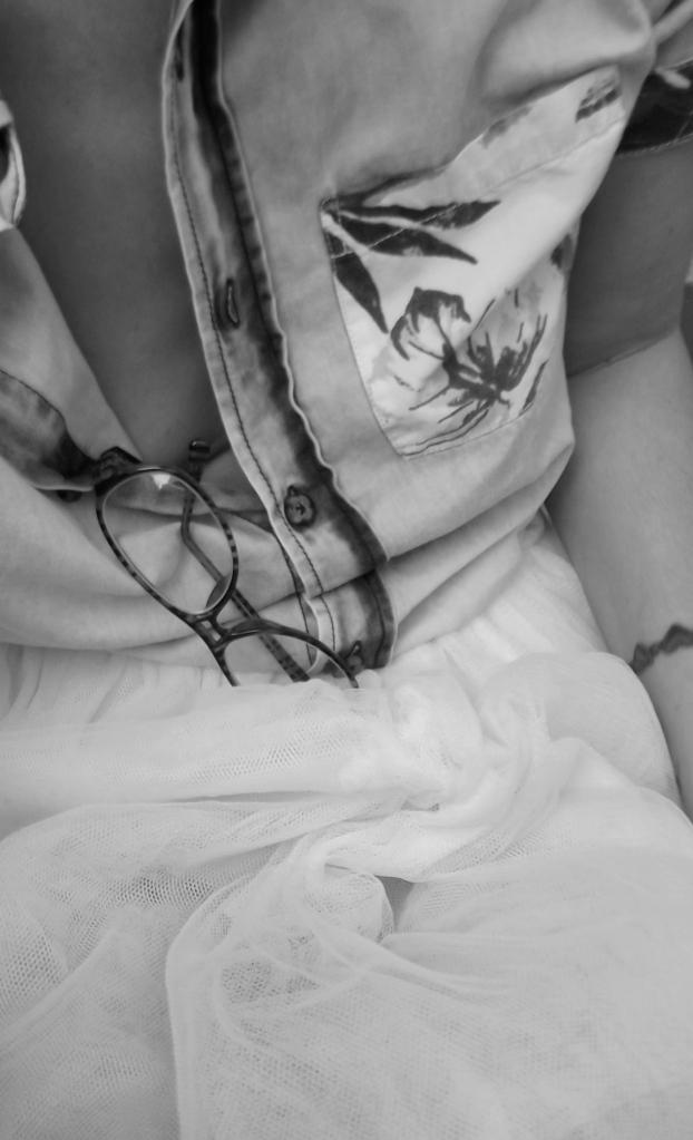 falda tul y denim normcore