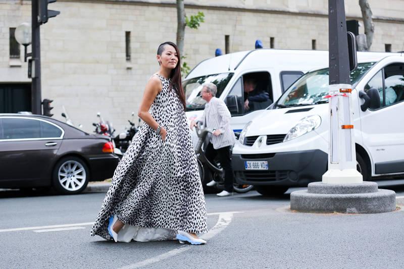 streetstyle paris 2014 long skirt