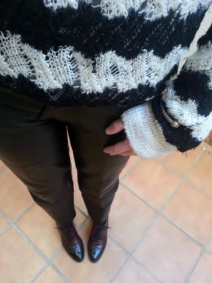 detalle mummy pants piel
