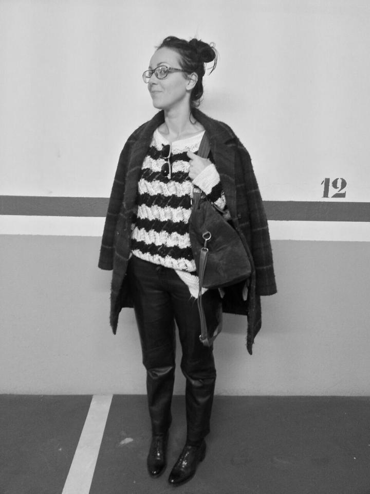 mummy pants leather normcore girl