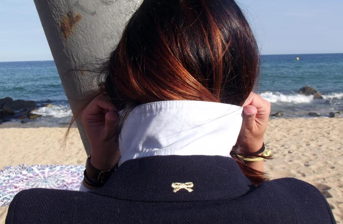 aire marinero la redoute normcore girl look oh la mode blaizer marinero