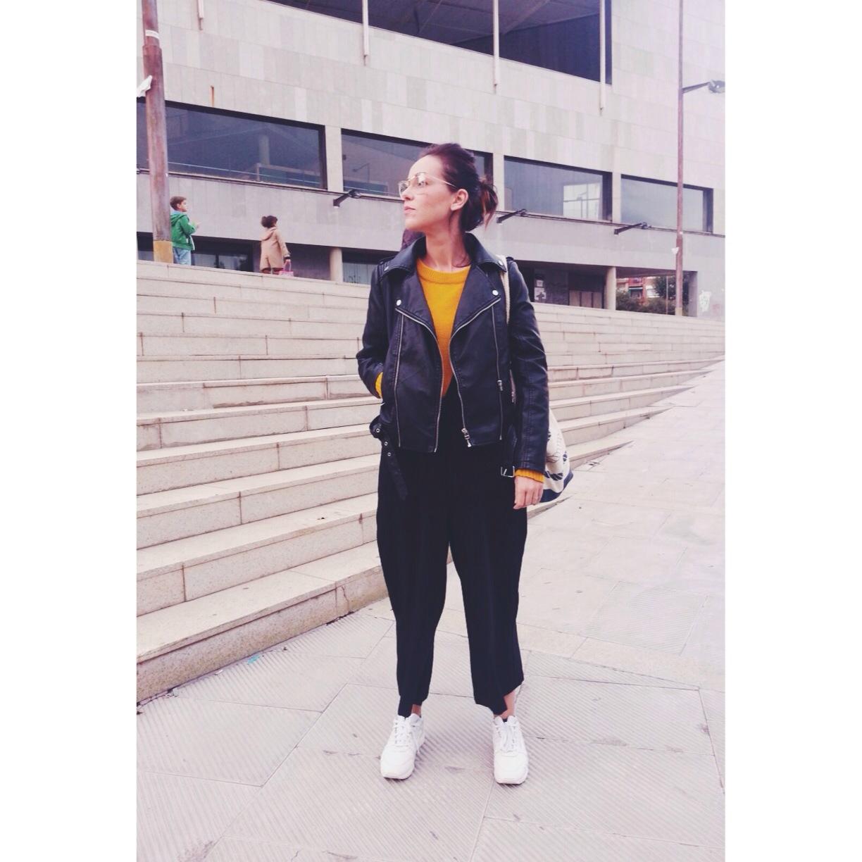 jumpsuit black oversize mango  spanish blogger influencer normcore girl comfy and luxury style
