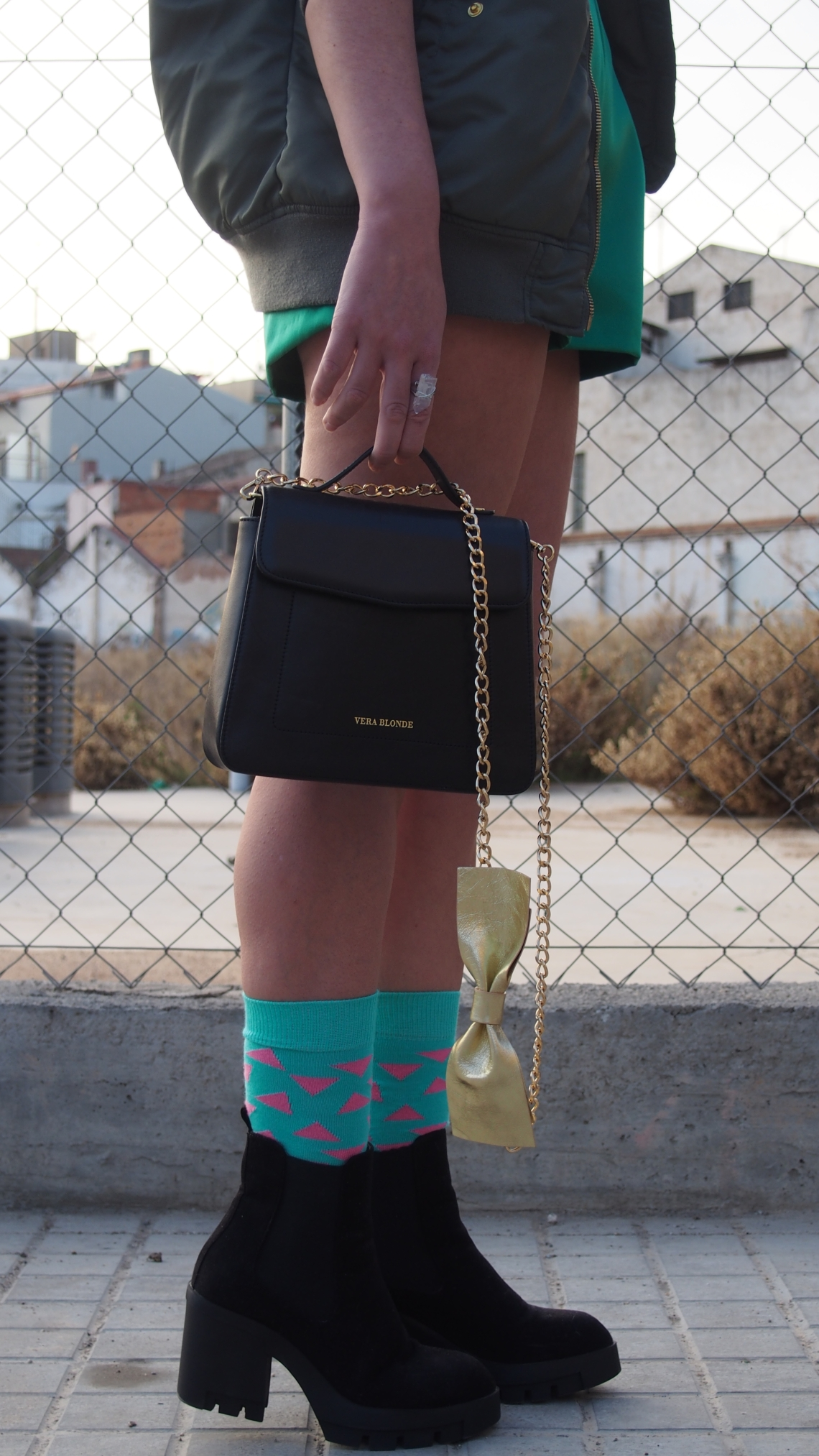 new year outfit normcore girl influencer socks and short