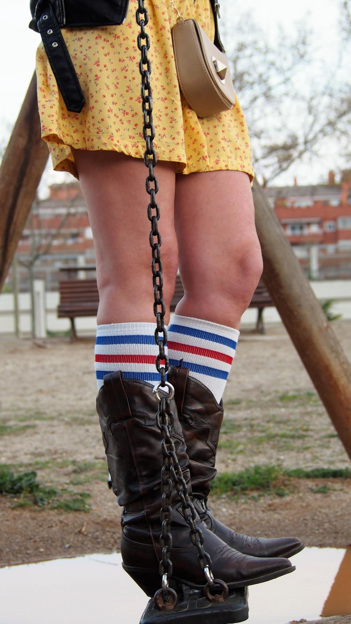 look primavera mostaza american socks normcore girl
