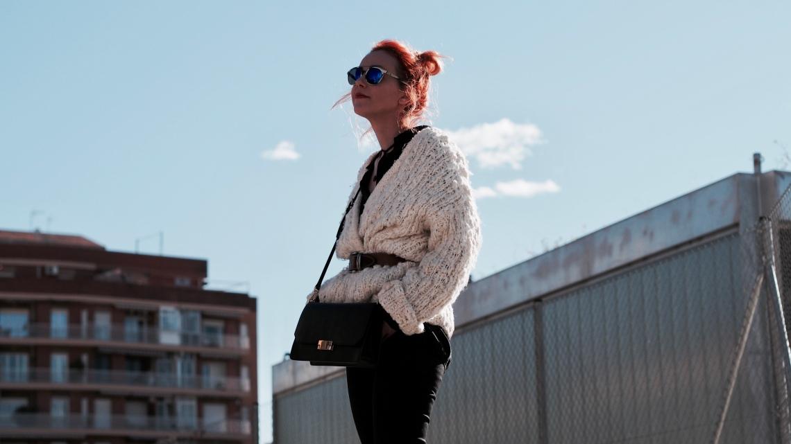 look maxi chaqueta blanca de lana