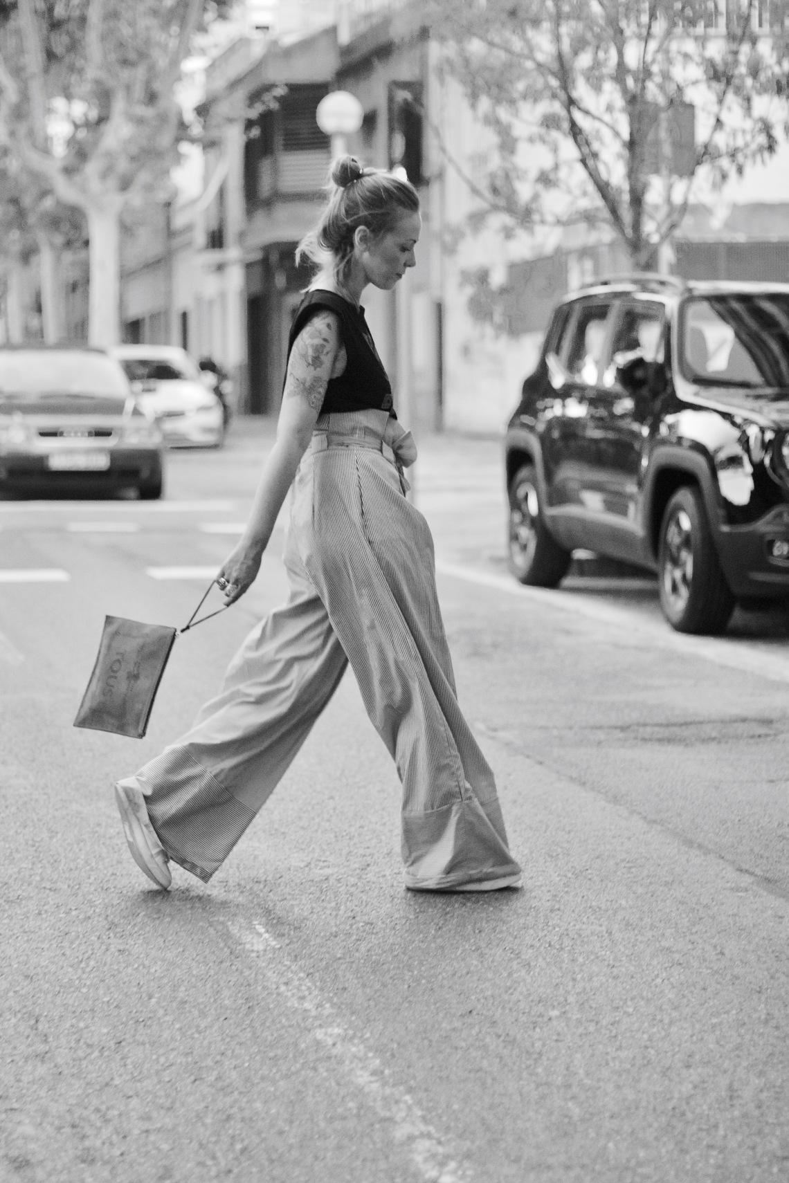 foto vogue pantalon ancho streetstyle