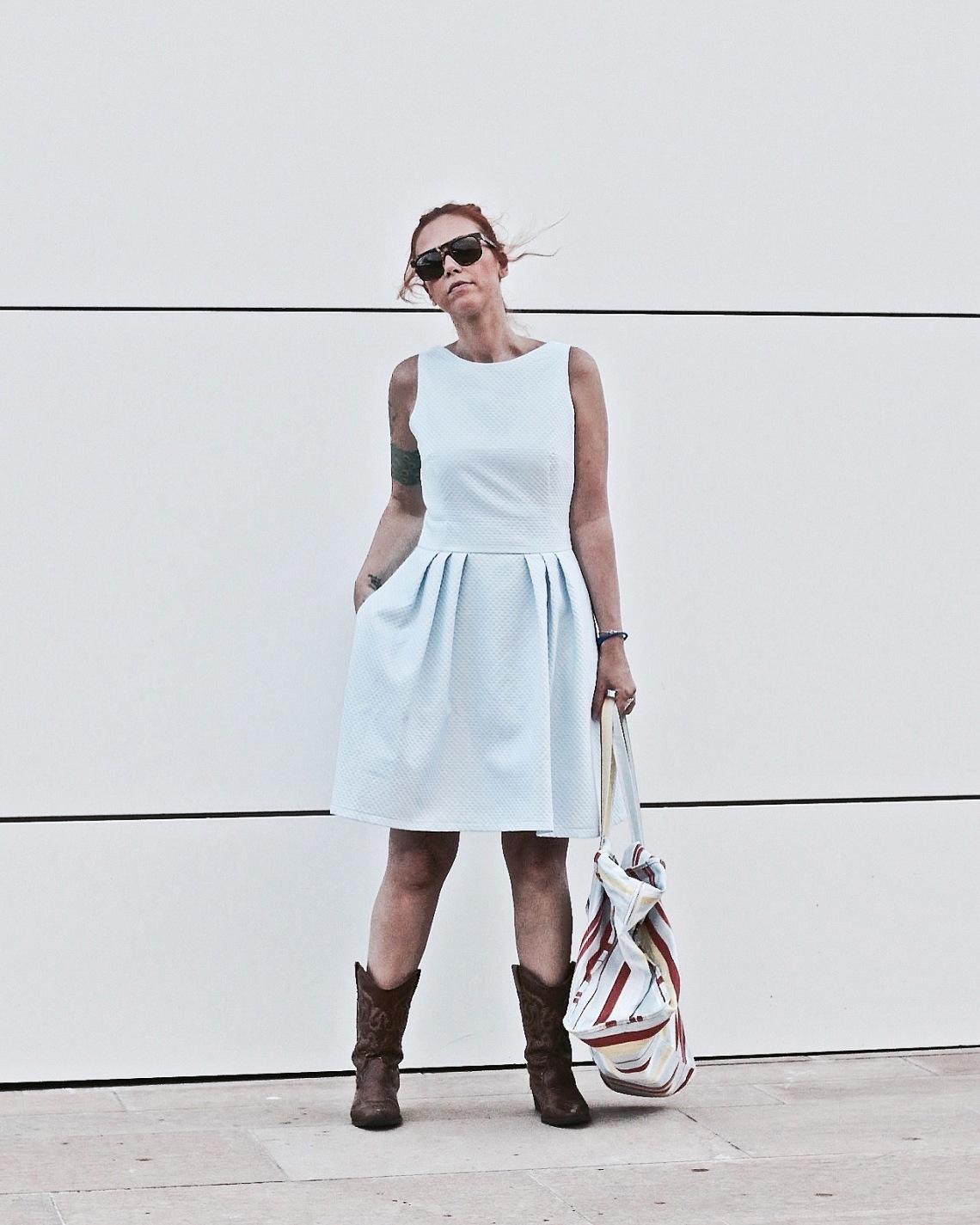 fashion blogger barcelona botas cowboy balenciaga