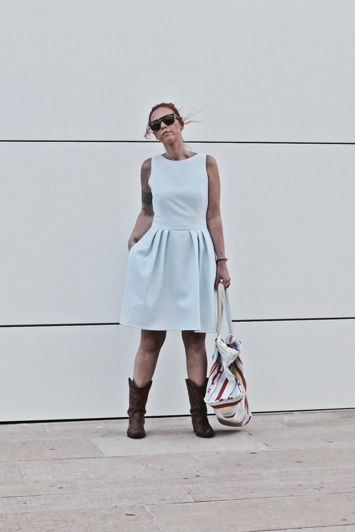 popisima vestidos a medida vestido de piqué