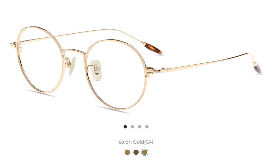 gafas dorada vintage